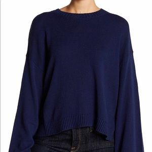 Abound Navy Women's Size XXS Bell-Sleeve Mock-Neck